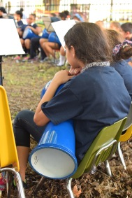 A young girl waits to perform at a concert in the garden of Moffet Elementary School in Kensington during May. | THE SPIRIT NEWS