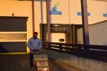 Michael Jarman wheels out produce he collected from the Philadelphia Wholesale Produce Market. | PHILLY.COM